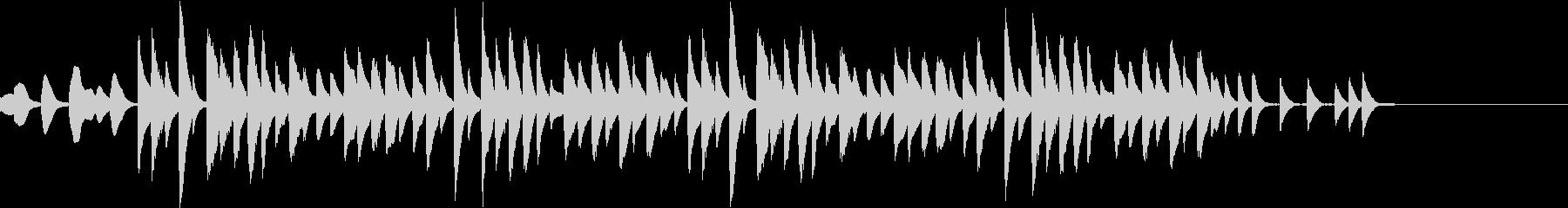 マリンバ ミニマル コミカル ジングルの未再生の波形