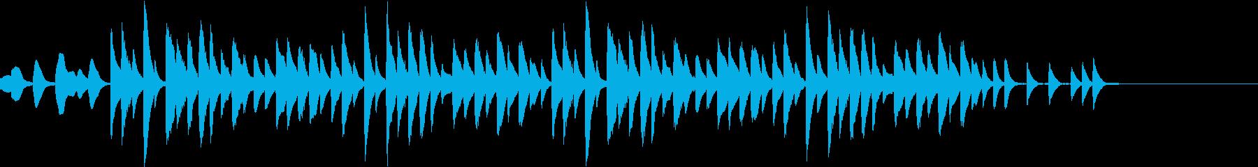 マリンバ ミニマル コミカル ジングルの再生済みの波形
