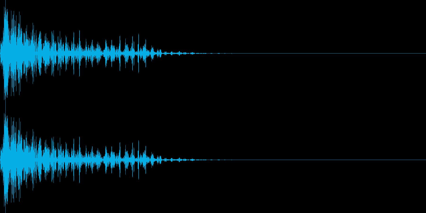 ブーン(マイナス_ミス_少し長い)の再生済みの波形