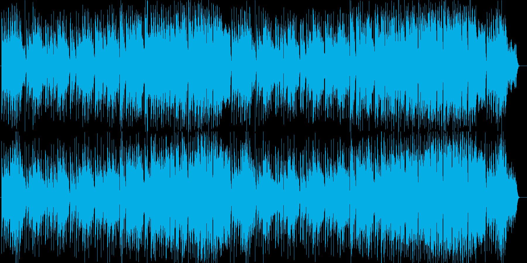 爽やかな朝の始まりシンセサウンドの再生済みの波形