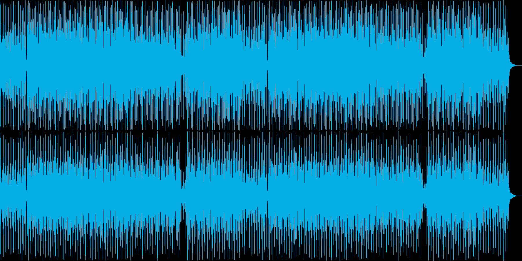 コミカルで少し不気味なハロウィンの曲の再生済みの波形