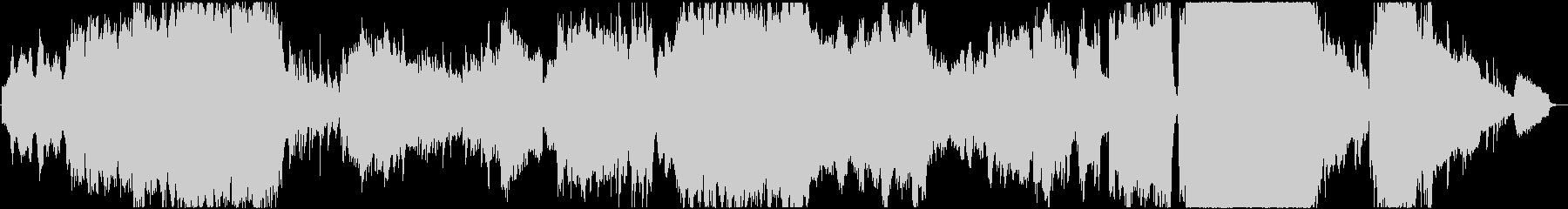 夜景・オーロラをイメージした神秘的な曲の未再生の波形