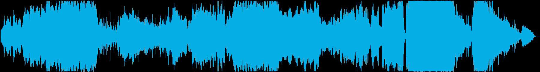 夜景・オーロラをイメージした神秘的な曲の再生済みの波形