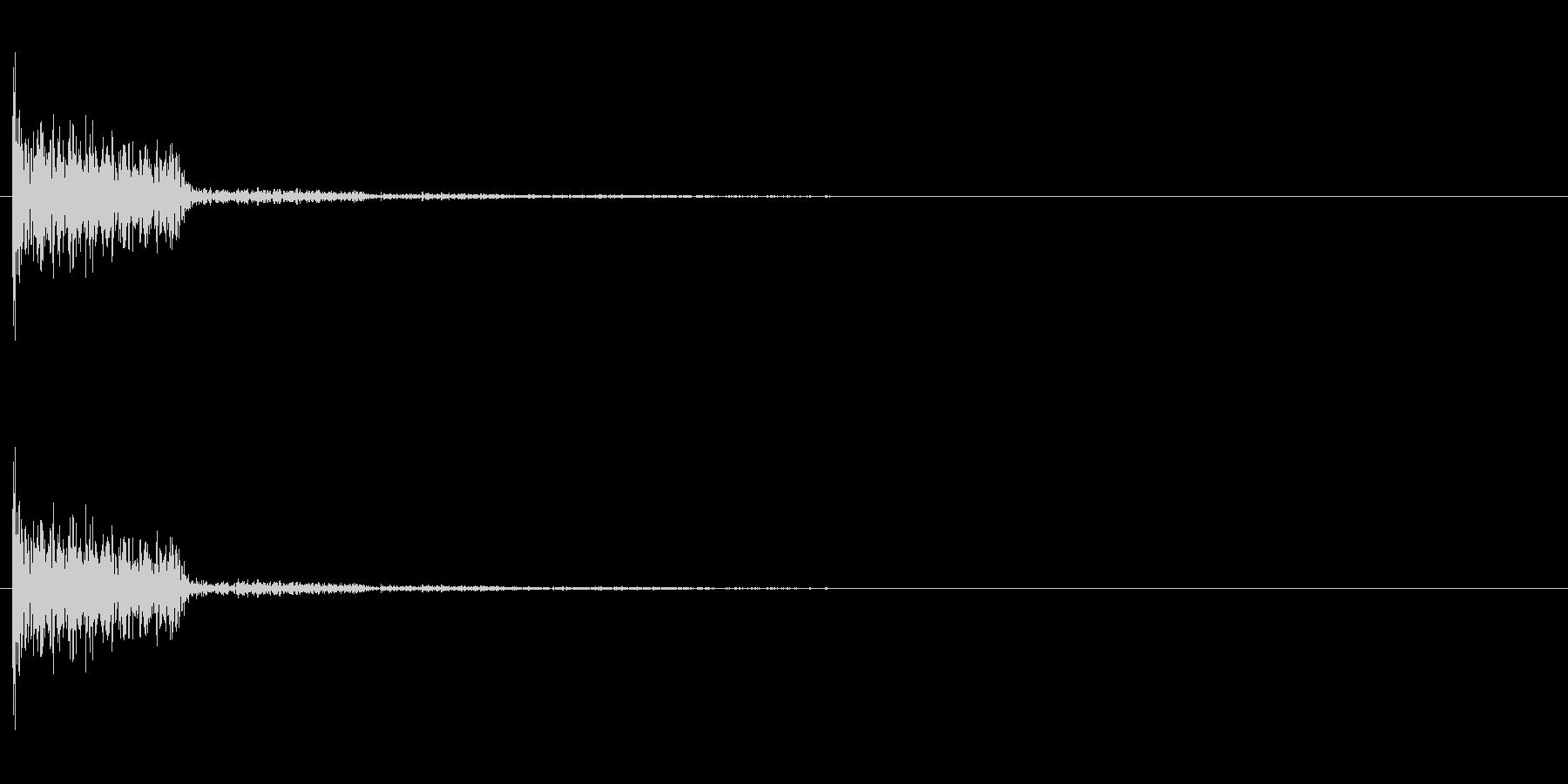 クラブ系 決定音04(オルガン)の未再生の波形