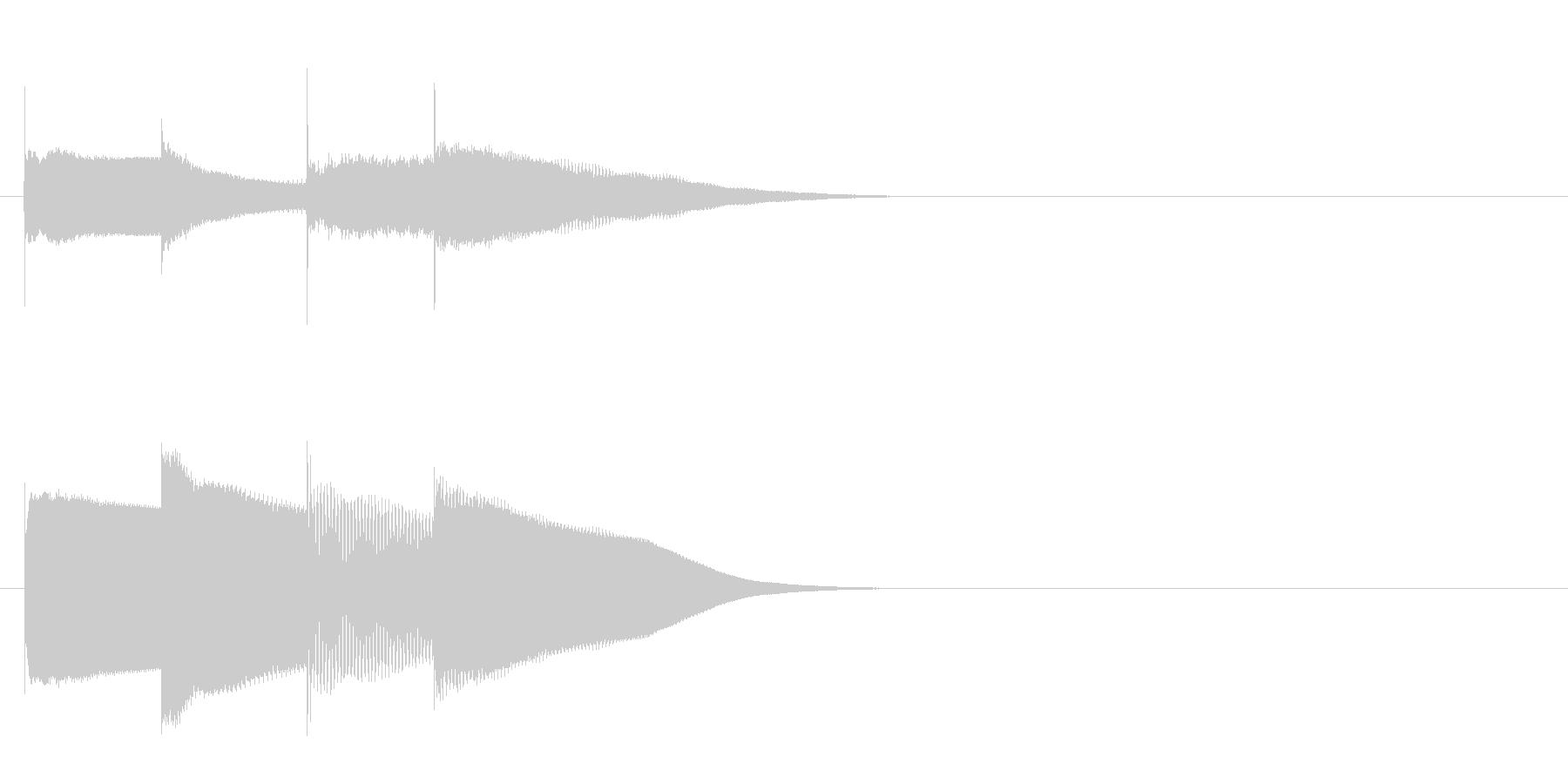 グロッケン系 決定音14(大)の未再生の波形