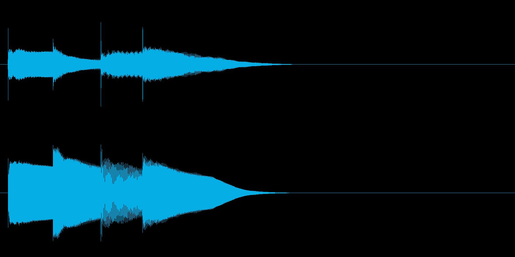 グロッケン系 決定音14(大)の再生済みの波形