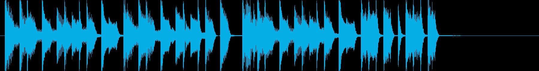 お洒落でファッショナブルなアイキャッチの再生済みの波形