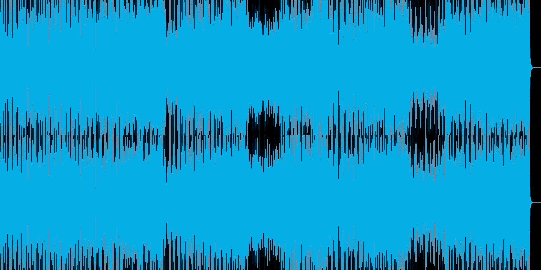 爽やかなピアノと軽快リズムの曲の再生済みの波形