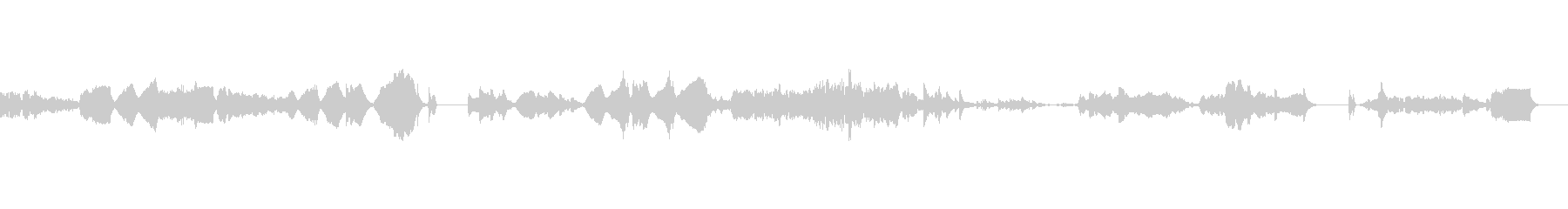 ピアノ・オルガンと弦のアンサンブルの未再生の波形