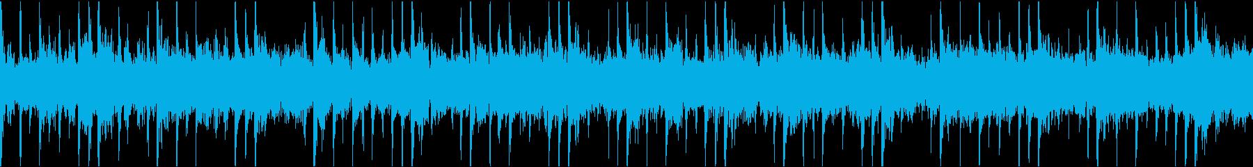 幻想的な浮遊系のテクスチャーBGMの再生済みの波形