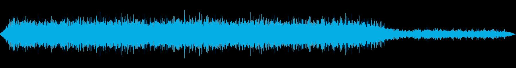 工事現場の音(ボーリング)の再生済みの波形
