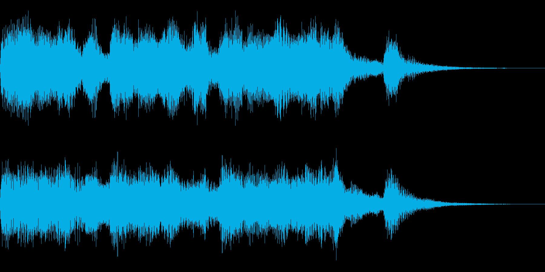 厳かなジングルの再生済みの波形