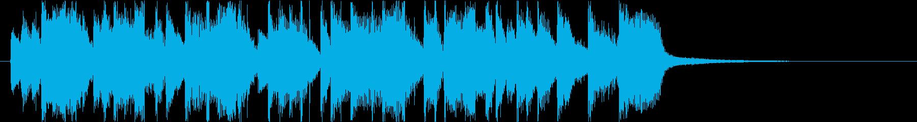ノリノリラテンサウンドロゴの再生済みの波形