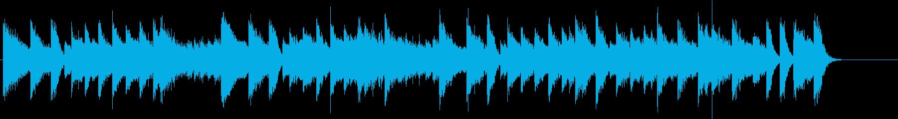 昭和歌謡風の甘酸っぱい青春ピアノジングルの再生済みの波形