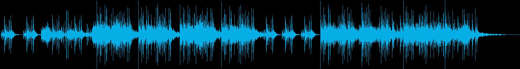 色々な音が入り混じる不思議なアンビエントの再生済みの波形