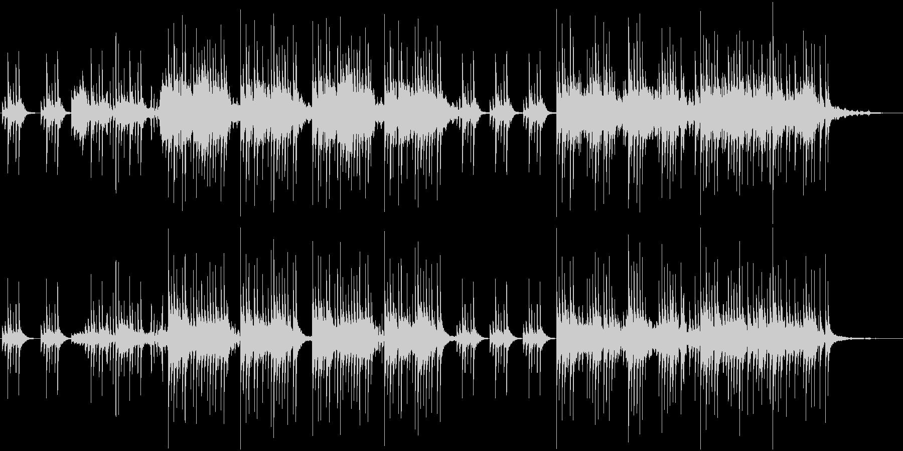 色々な音が入り混じる不思議なアンビエントの未再生の波形