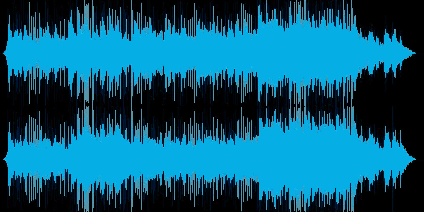 ピアノ、アコースティックギター、エ...の再生済みの波形