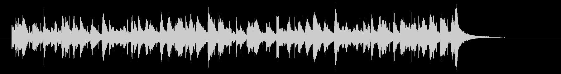 カリプソ風のジングルの未再生の波形