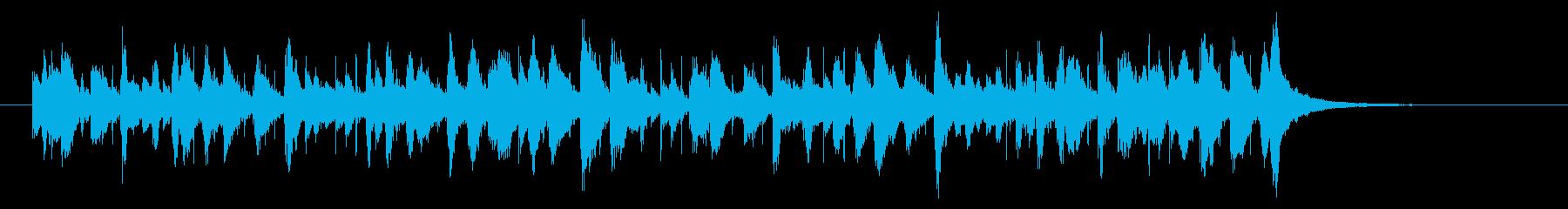 カリプソ風のジングルの再生済みの波形