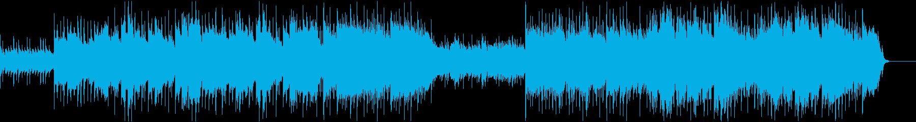 爽やかな雰囲気のアコースティック曲の再生済みの波形