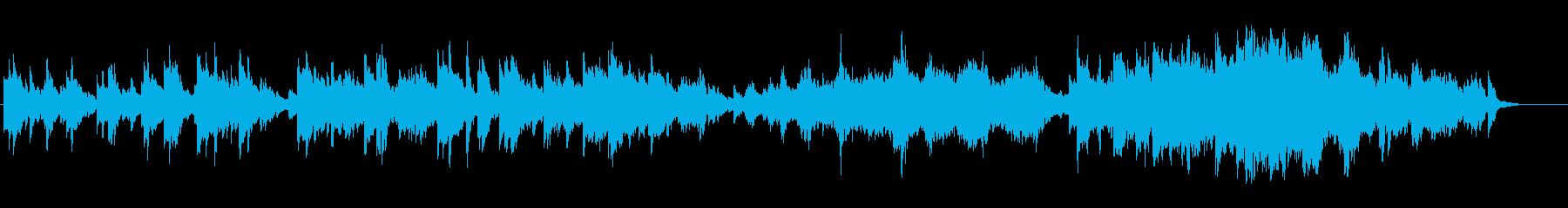 アンニュイなピアノのアンビ系バラードの再生済みの波形