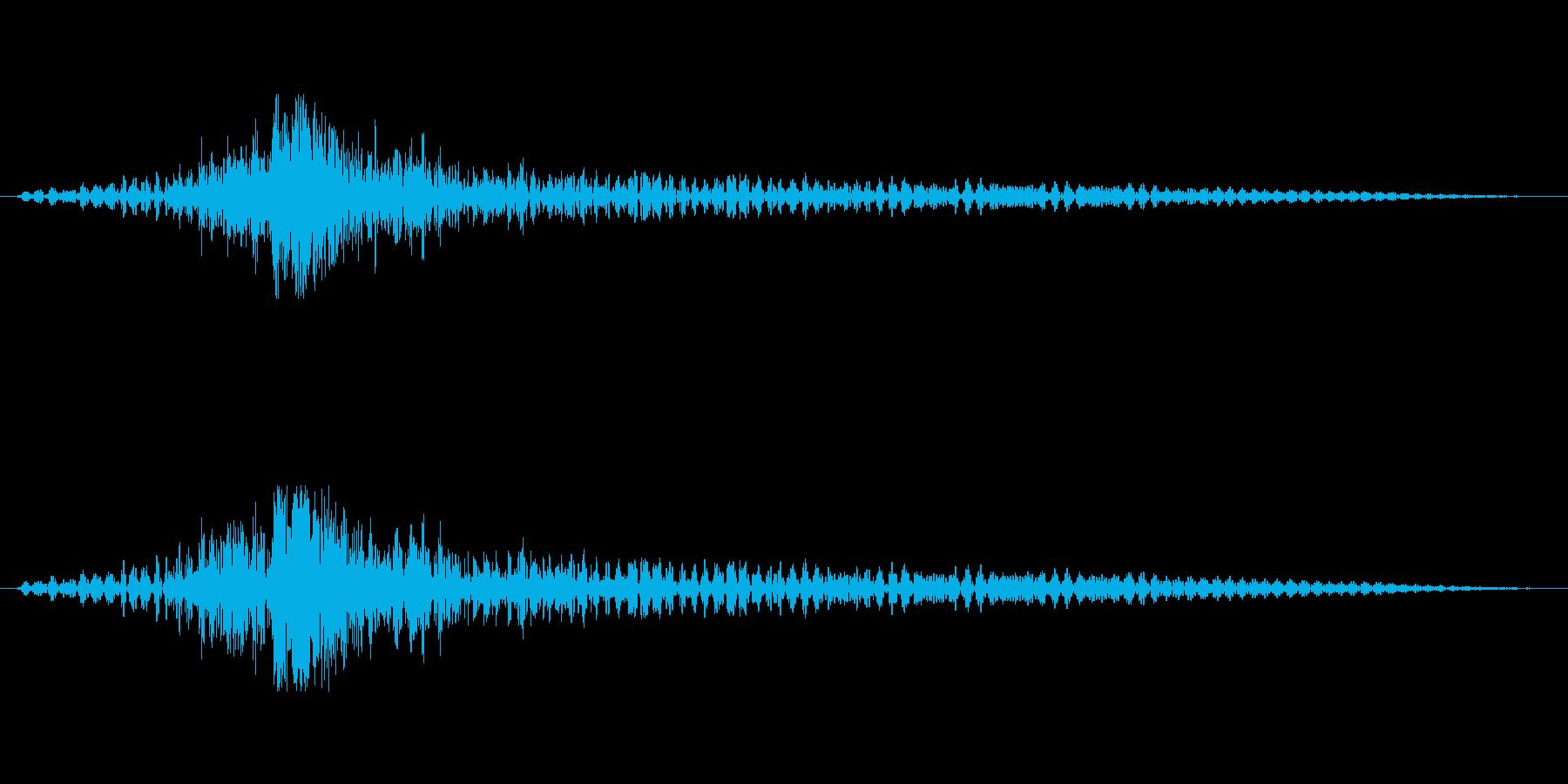 ティンパニーで「ドゥルドゥルドカン」の再生済みの波形