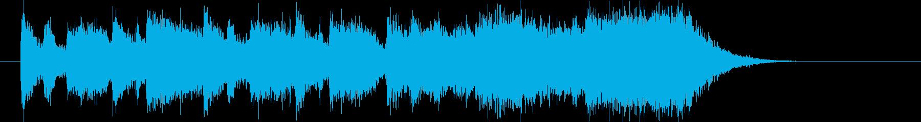 ストリングスが特徴なバンドのジングルの再生済みの波形