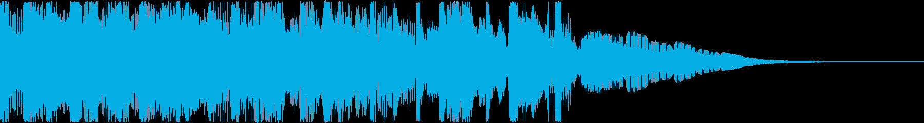 切なげなスローテンポのテクノの再生済みの波形