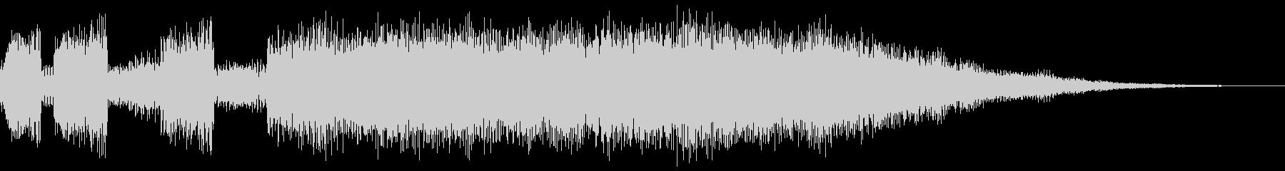 シンセブラスによるサウンドロゴ、ジングルの未再生の波形