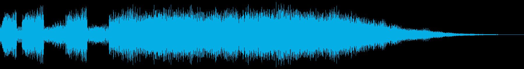 シンセブラスによるサウンドロゴ、ジングルの再生済みの波形