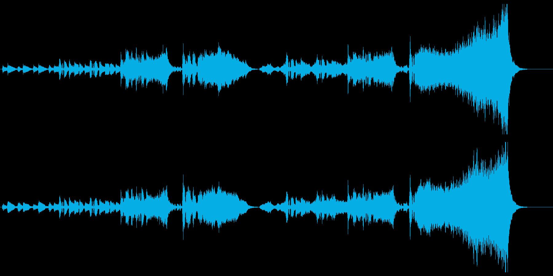 オーケストラのハッピーバースデーの再生済みの波形