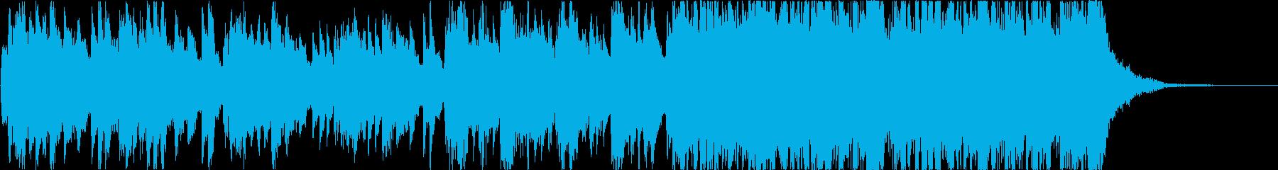 ニュースっぽいオープニング曲の再生済みの波形