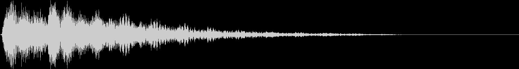 テロップ紹介(ピアノとシンセ:バン)3の未再生の波形