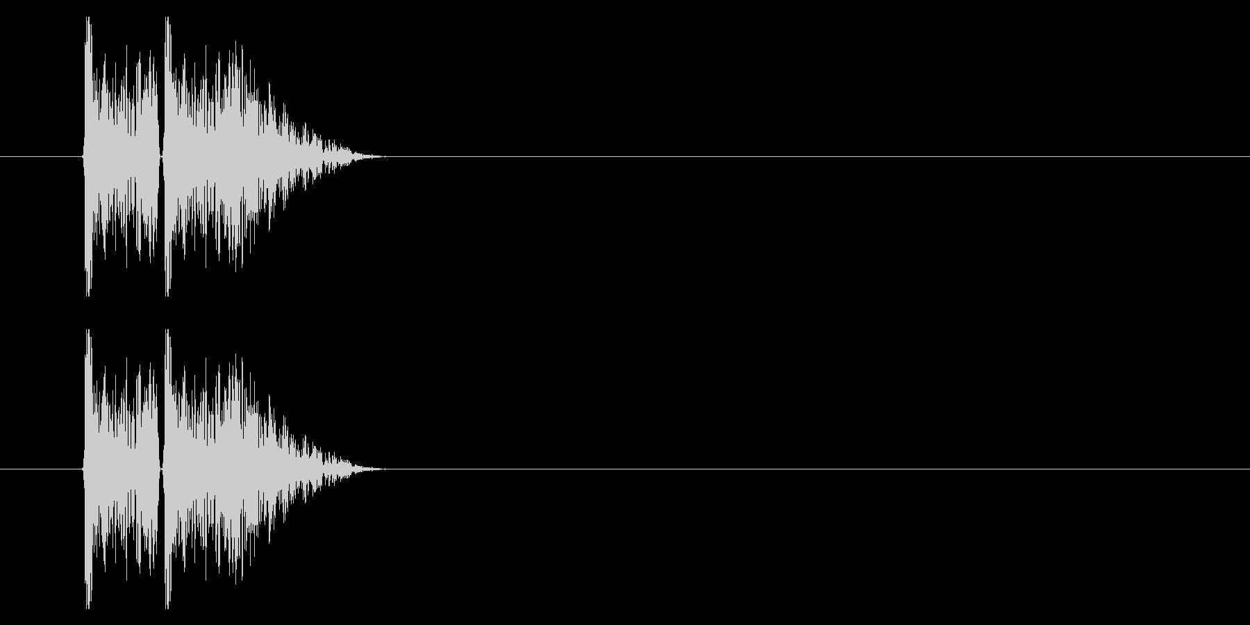 打撃09-2の未再生の波形