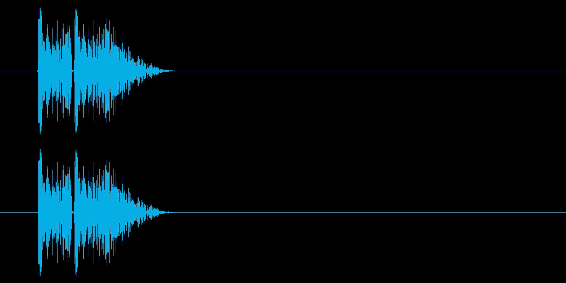 打撃09-2の再生済みの波形