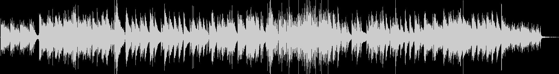 キラキラした印象のピアノトリオの未再生の波形