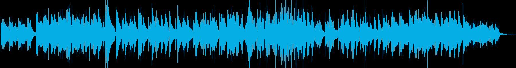 キラキラした印象のピアノトリオの再生済みの波形