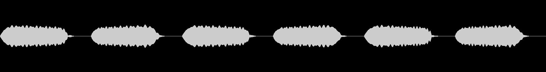 昼寝/鼻風船/ホワホワの未再生の波形