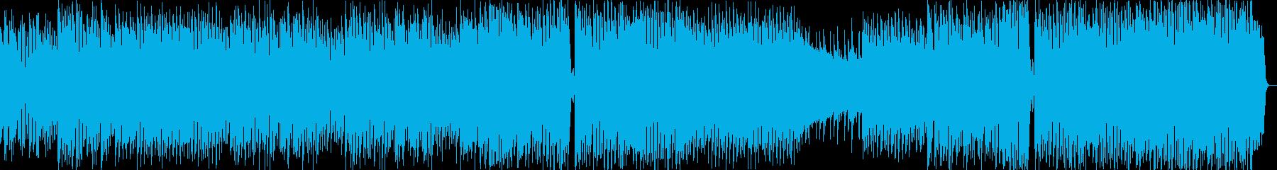8bit風の和メロテクノポップスの再生済みの波形