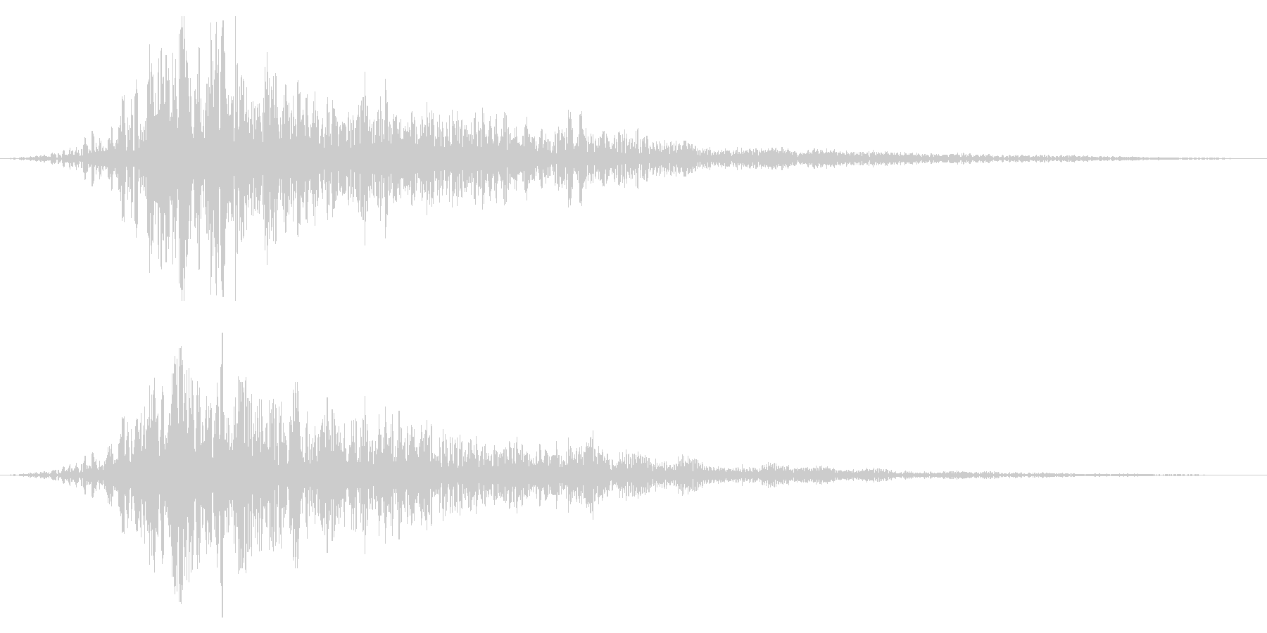 ホラー系アタック音117の未再生の波形