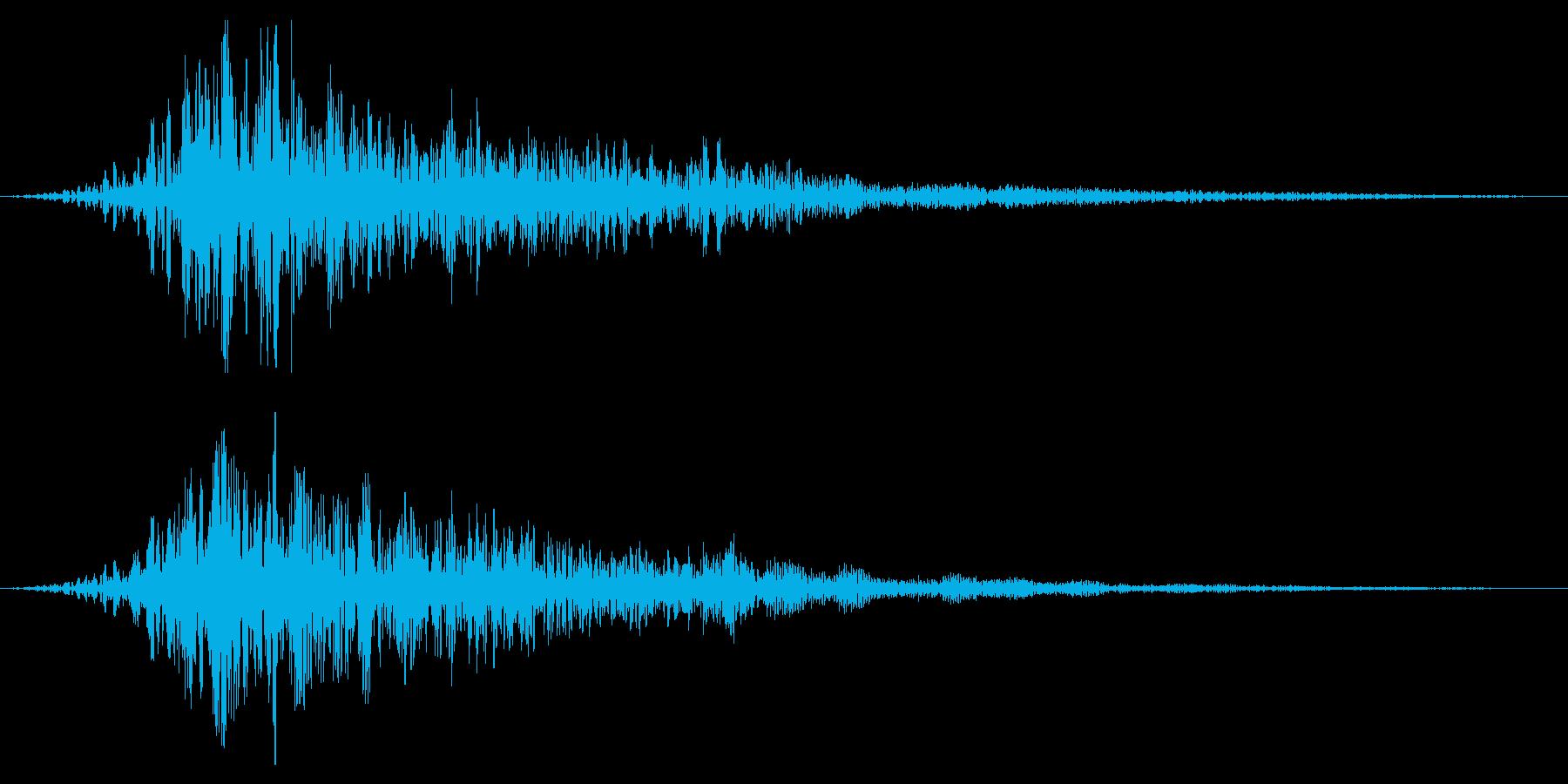 ホラー系アタック音117の再生済みの波形