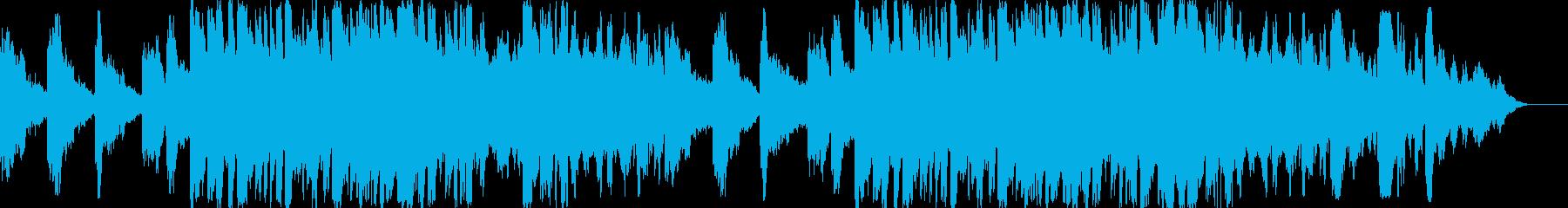 緊迫した雰囲気のピアノ曲の再生済みの波形