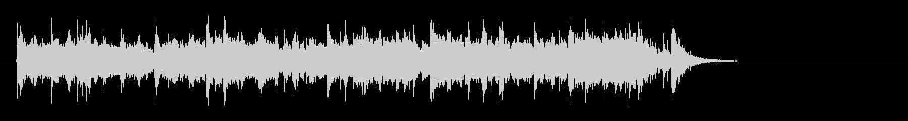 素朴なフォークポップス(サビ)の未再生の波形
