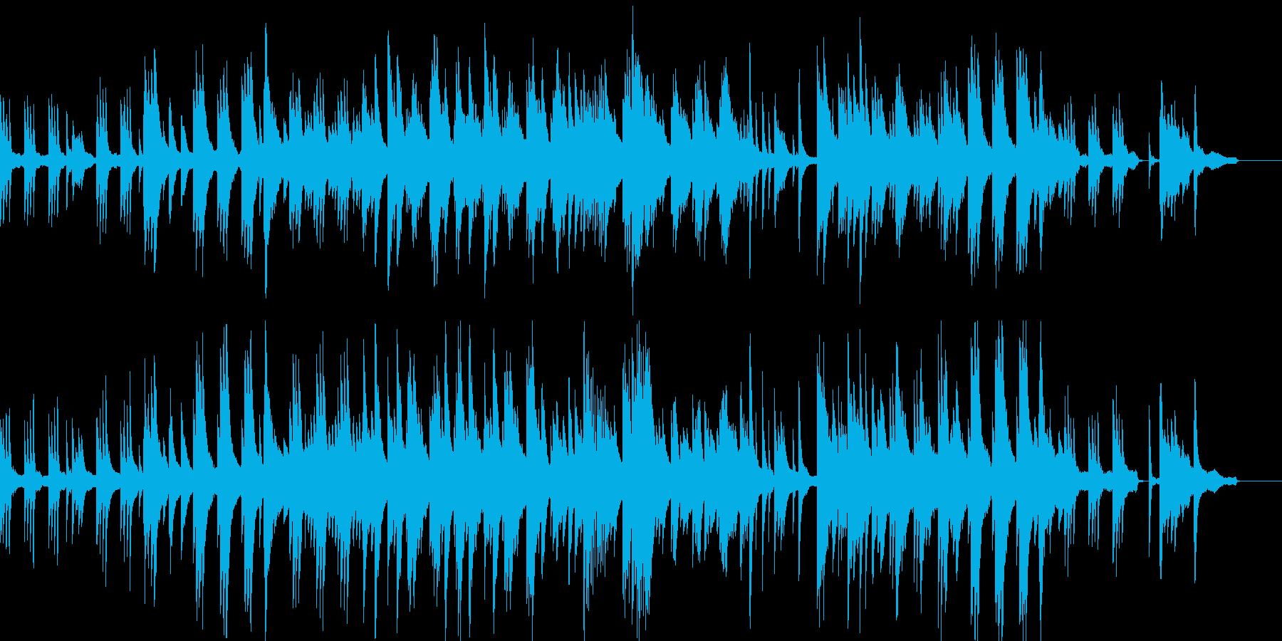 温かい雰囲気のピアノ曲の再生済みの波形