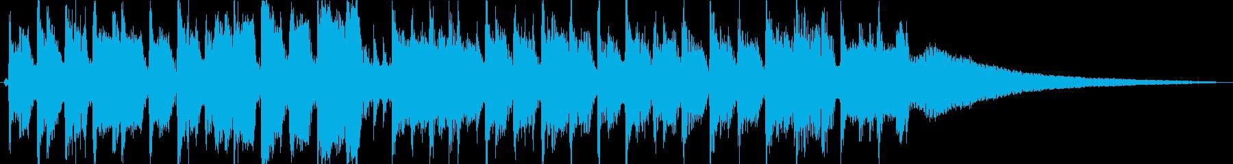 キラキラ輝かしいジングルの再生済みの波形