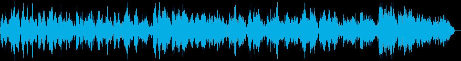 アコーディオンの牧歌ワルツの再生済みの波形