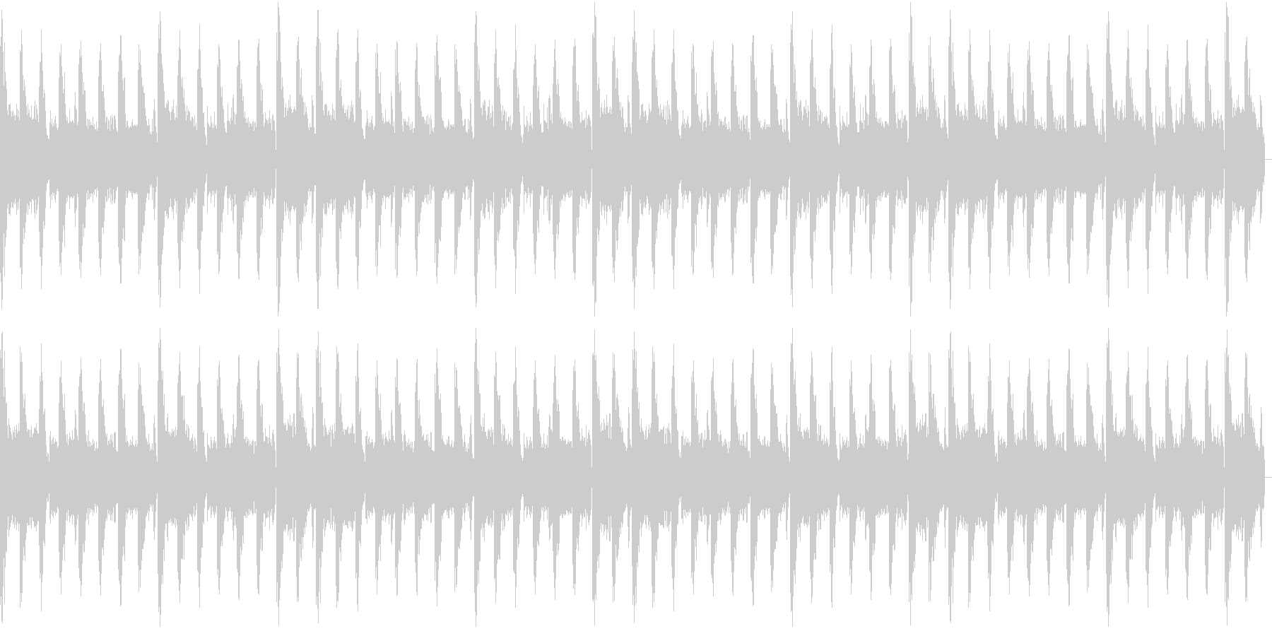 ピアノがクールなEDMの未再生の波形