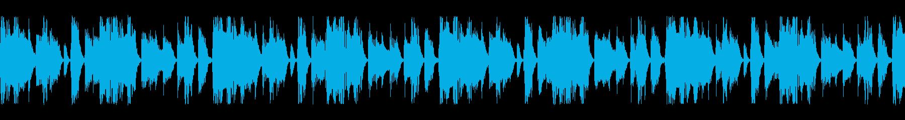 パーカションとベースのループの再生済みの波形
