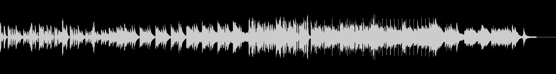 ほのぼのとした短いピアノとリコーダーの曲の未再生の波形
