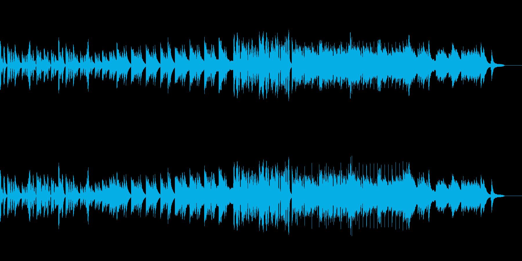 ほのぼのとした短いピアノとリコーダーの曲の再生済みの波形